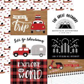 Papier imprimé Let's Go Anywhere JOURNALING CARDS 15X10CM par Echo Park. Scrapbooking et loisirs créatifs. Livraison rapide e...