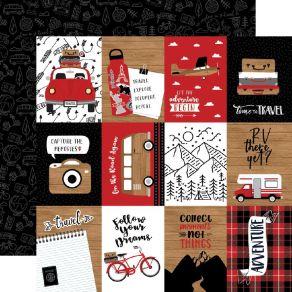Papier imprimé Let's Go Anywhere 7.5X10CM JOURNALING CARDS par Echo Park. Scrapbooking et loisirs créatifs. Livraison rapide ...