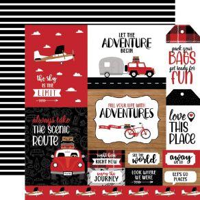 Papier imprimé Let's Go Anywhere MULTI JOURNALING CARDS par Echo Park. Scrapbooking et loisirs créatifs. Livraison rapide et ...