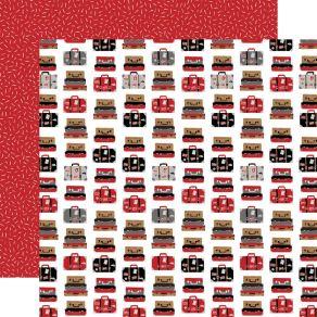 Papier imprimé Let's Go Anywhere PACK YOUR BAGS par Echo Park. Scrapbooking et loisirs créatifs. Livraison rapide et cadeau d...
