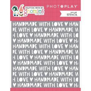 Pochoir Crafting With My Gnomies HANDMADE par Photo Play. Scrapbooking et loisirs créatifs. Livraison rapide et cadeau dans c...