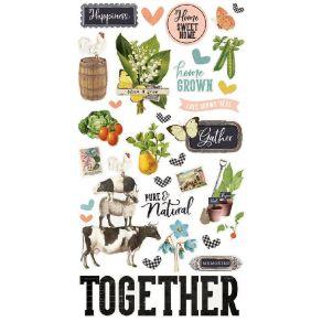 Stickers cartonnés SIMPLE VINTAGE FARMHOUSE GARDEN par Simple Stories. Scrapbooking et loisirs créatifs. Livraison rapide et ...
