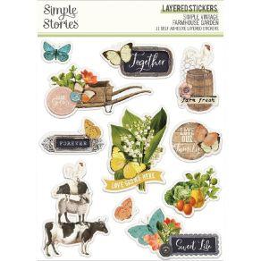 Stickers SIMPLE VINTAGE FARMHOUSE GARDEN par Simple Stories. Scrapbooking et loisirs créatifs. Livraison rapide et cadeau dan...