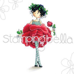 Tampon non monté GARDEN GIRL ROSE par Stamping Bella. Scrapbooking et loisirs créatifs. Livraison rapide et cadeau dans chaqu...