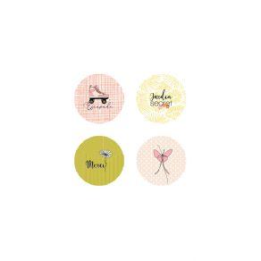 Lot de 4 badges RESPIRE ! par Marie-LN Geffray. Scrapbooking et loisirs créatifs. Livraison rapide et cadeau dans chaque comm...