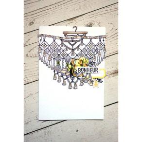 Tampon bois SUSPENSION LOVE par Florilèges Design. Scrapbooking et loisirs créatifs. Livraison rapide et cadeau dans chaque c...