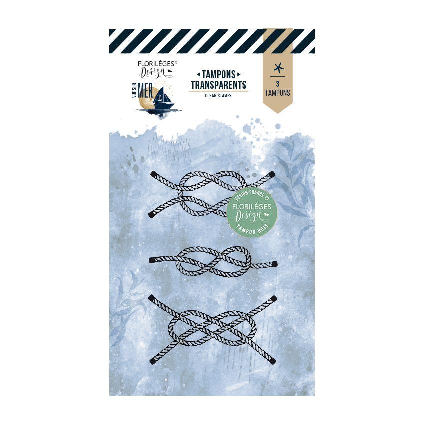 Tampon clear NŒUDS MARINS par Florilèges Design. Scrapbooking et loisirs créatifs. Livraison rapide et cadeau dans chaque com...