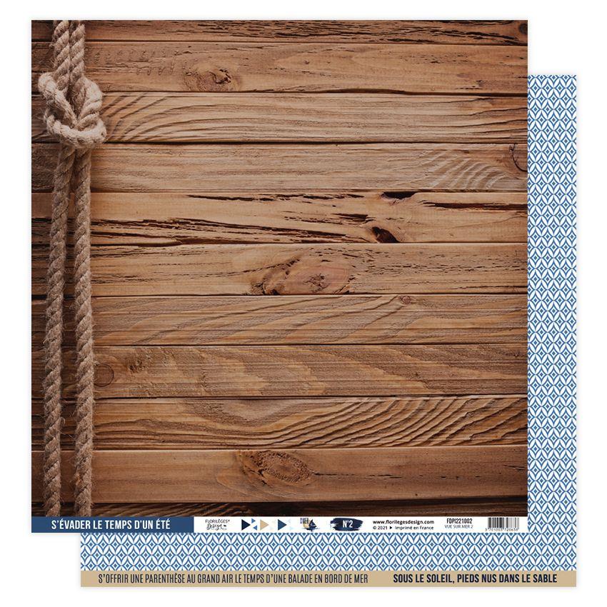 Papier imprimé VUE SUR MER 02 par Florilèges Design. Scrapbooking et loisirs créatifs. Livraison rapide et cadeau dans chaque...