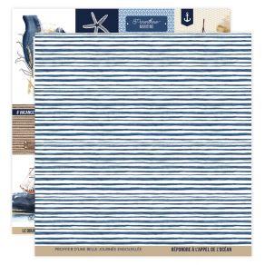 Papier imprimé VUE SUR MER 04 par Florilèges Design. Scrapbooking et loisirs créatifs. Livraison rapide et cadeau dans chaque...