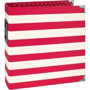 Classeur 15 x 20 cm Snap! RED STRIPE par Simple Stories. Scrapbooking et loisirs créatifs. Livraison rapide et cadeau dans ch...