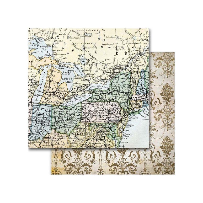 Papier imprimé Around The World AMERICA par Memory Place. Scrapbooking et loisirs créatifs. Livraison rapide et cadeau dans c...