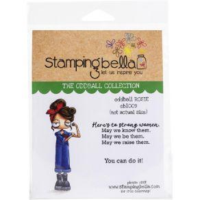 Tampon non monté ODDBALL ROSIE par Stamping Bella. Scrapbooking et loisirs créatifs. Livraison rapide et cadeau dans chaque c...
