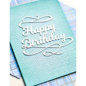 Outil de découpe HAPPY BIRTHDAY FLOURISH par Poppy Stamps. Scrapbooking et loisirs créatifs. Livraison rapide et cadeau dans ...