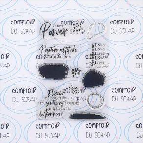 Tampon clear ABSTRACT par Comptoir du Scrap. Scrapbooking et loisirs créatifs. Livraison rapide et cadeau dans chaque commande.