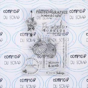 Tampon clear FLOWER POWER par Comptoir du Scrap. Scrapbooking et loisirs créatifs. Livraison rapide et cadeau dans chaque com...