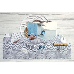 Papier imprimé VUE SUR MER 03 par Florilèges Design. Scrapbooking et loisirs créatifs. Livraison rapide et cadeau dans chaque...