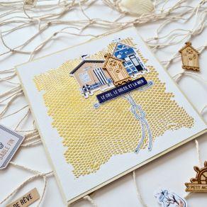 Pochoir FILET DE PÊCHE par Florilèges Design. Scrapbooking et loisirs créatifs. Livraison rapide et cadeau dans chaque commande.