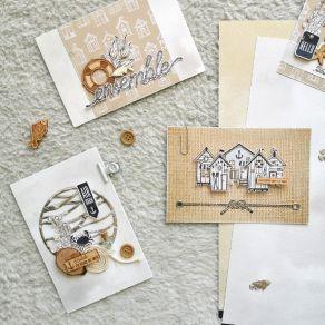 Papier imprimé VUE SUR MER 07 par Florilèges Design. Scrapbooking et loisirs créatifs. Livraison rapide et cadeau dans chaque...
