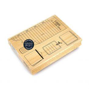 Tampon bois NOTES DES VACANCES par Florilèges Design. Scrapbooking et loisirs créatifs. Livraison rapide et cadeau dans chaqu...
