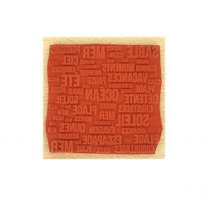 Tampon bois MOTS DE LA MER par Florilèges Design. Scrapbooking et loisirs créatifs. Livraison rapide et cadeau dans chaque co...