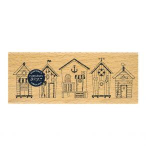 Tampon bois CABANES DE PLAGE par Florilèges Design. Scrapbooking et loisirs créatifs. Livraison rapide et cadeau dans chaque ...