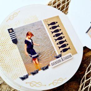 """Kit exclusif JUIN 2021 """"Parenthèse Maritime"""" par Variations Créatives. Scrapbooking et loisirs créatifs. Livraison rapide et ..."""