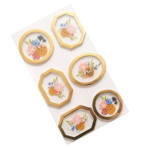 6 stickers Reaching Out PRESSED FLOWERS par American Crafts. Scrapbooking et loisirs créatifs. Livraison rapide et cadeau dan...