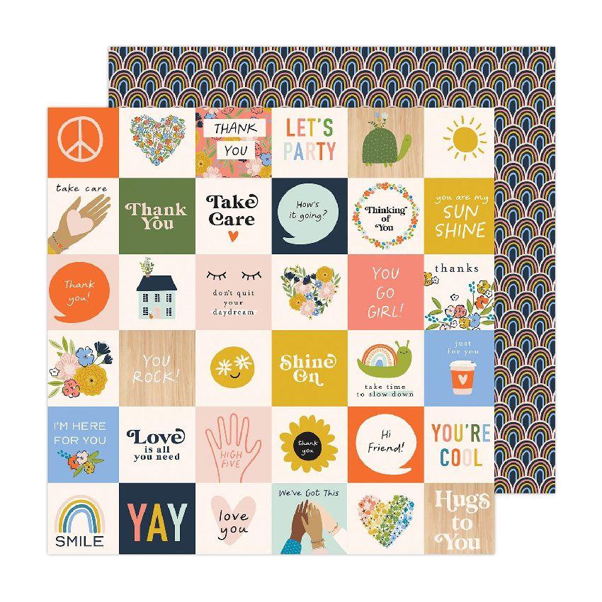 Papier imprimé Reaching Out HELLO YOU par American Crafts. Scrapbooking et loisirs créatifs. Livraison rapide et cadeau dans ...