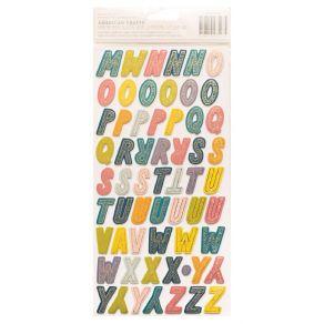 Stickers alphabet Page Evans WONDERS par American Crafts. Scrapbooking et loisirs créatifs. Livraison rapide et cadeau dans c...