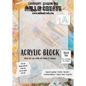 Bloc acrylique A4 par AALL & Create. Scrapbooking et loisirs créatifs. Livraison rapide et cadeau dans chaque commande.