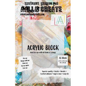 Bloc acrylique A5 par AALL & Create. Scrapbooking et loisirs créatifs. Livraison rapide et cadeau dans chaque commande.