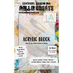 Bloc acrylique A6 par AALL & Create. Scrapbooking et loisirs créatifs. Livraison rapide et cadeau dans chaque commande.