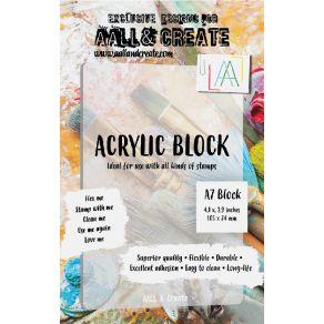 Bloc acrylique A7 par AALL & Create. Scrapbooking et loisirs créatifs. Livraison rapide et cadeau dans chaque commande.