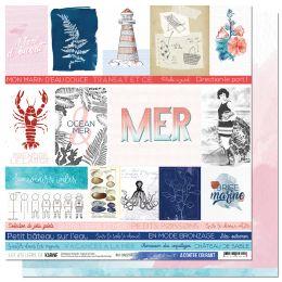 Kit collection A CONTRE COURANT par Les Ateliers de Karine. Scrapbooking et loisirs créatifs. Livraison rapide et cadeau dans...