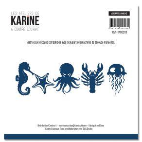 Outils de découpe A Contre Courant ANIMAUX MARINS par Les Ateliers de Karine. Scrapbooking et loisirs créatifs. Livraison rap...