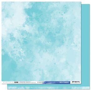 Papier uni 30,5 x 30,5 cm Back To Basics A CONTRE COURANT 10 BLEU CIEL par Les Ateliers de Karine. Scrapbooking et loisirs cr...