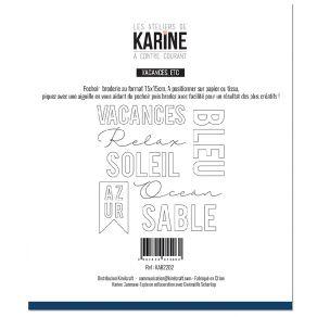 Pochoir Broderie A Contre Courant VACANCES, ETC par Les Ateliers de Karine. Scrapbooking et loisirs créatifs. Livraison rapid...