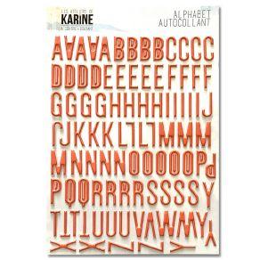 Stickers alphabet A CONTRE COURANT par Les Ateliers de Karine. Scrapbooking et loisirs créatifs. Livraison rapide et cadeau d...