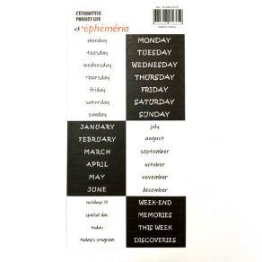 Stickers Z'ÉTIQUETTES PROJECT LIFE ENGLISH par Ephéméria. Scrapbooking et loisirs créatifs. Livraison rapide et cadeau dans c...