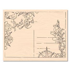 Tampon bois A Contre Courant CARTE POSTALE par Les Ateliers de Karine. Scrapbooking et loisirs créatifs. Livraison rapide et ...