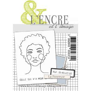 Tampon clear LA FONCEUSE par L'Encre et l'Image. Scrapbooking et loisirs créatifs. Livraison rapide et cadeau dans chaque com...