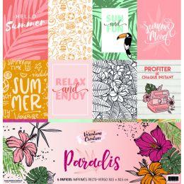 Kit collection Variations Créatives PARADIS par Variations Créatives. Scrapbooking et loisirs créatifs. Livraison rapide et c...