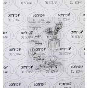 Tampon clear COMME ÇA par Comptoir du Scrap. Scrapbooking et loisirs créatifs. Livraison rapide et cadeau dans chaque commande.
