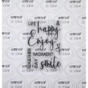 Tampon clear ENJOY par Comptoir du Scrap. Scrapbooking et loisirs créatifs. Livraison rapide et cadeau dans chaque commande.