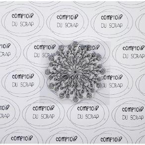 Tampon clear FOND FLEURI par Comptoir du Scrap. Scrapbooking et loisirs créatifs. Livraison rapide et cadeau dans chaque comm...