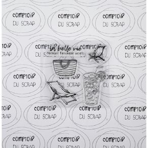 Tampon clear LA BELLE VIE par Comptoir du Scrap. Scrapbooking et loisirs créatifs. Livraison rapide et cadeau dans chaque com...