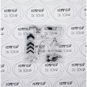 Tampon clear PAR ICI PAR LÀ par Comptoir du Scrap. Scrapbooking et loisirs créatifs. Livraison rapide et cadeau dans chaque c...