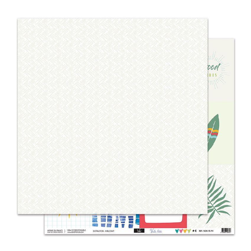 Papier imprimé VOILA L'ÉTÉ 5 par Sokai. Scrapbooking et loisirs créatifs. Livraison rapide et cadeau dans chaque commande.
