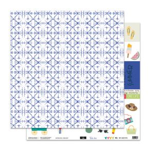 Papier imprimé VOILA L'ÉTÉ 6 par Sokai. Scrapbooking et loisirs créatifs. Livraison rapide et cadeau dans chaque commande.