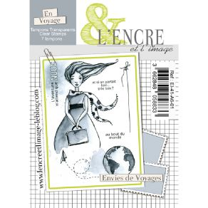 Tampon clear ENVIES DE VOYAGES par L'Encre et l'Image. Scrapbooking et loisirs créatifs. Livraison rapide et cadeau dans chaq...